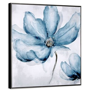 Gild Design House Blue Blossom Wall Art Decor - 33-in x 33-in