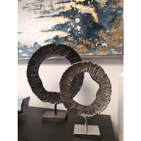 Gild Design House Roan Large decorative sculpture - Grey - 22.5-in x 17.5-in
