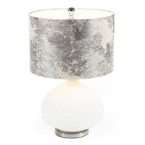 Lampe de table Lizzy Gild Design House, blanche et argenté, 23 po