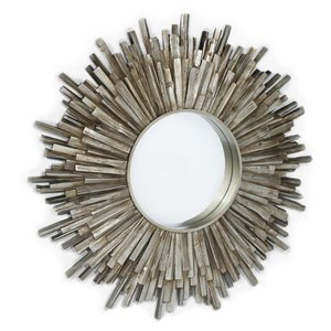 Miroir Genévrier Gild Design House, argent antique, 36 po x 36 po