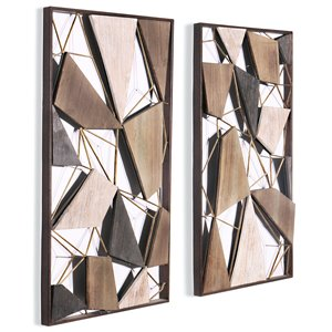 Gild Design House Lucian Wall Art - Wood and Metal - Set of 2