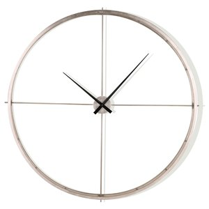 Gild Design House Baylor Wall Clock - Silver - 50-in x 50-in