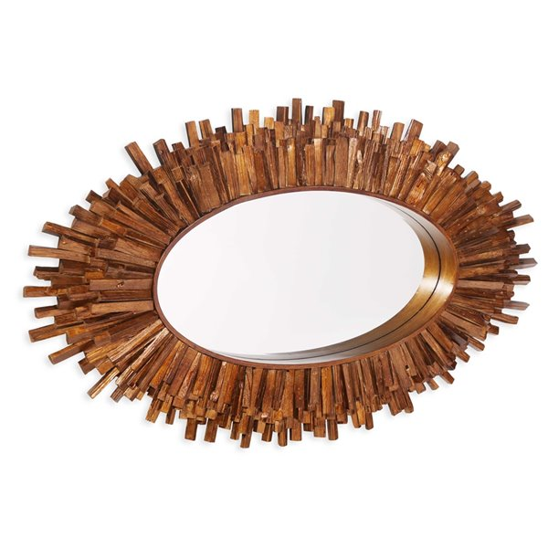 Miroir Quinlynn Gild Design House, bronze antique, 30 po x 50 po