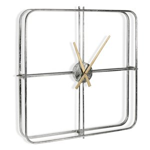 Gild Design House Lincoln Silver Clock - 32-in x 32-in