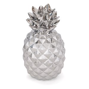Gild Design House Priscella Ceramic Pineapple - Silver - 18-in