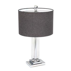 Lampe de table Titus Gild Design House, grise, 26 po