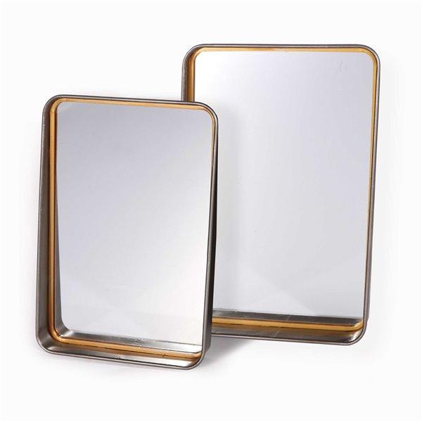 Ensemble de 2 miroirs Orion Gild Design House, 25 po x 17 po
