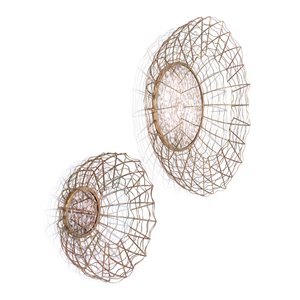 Gild Design House Zaria Antique Mirrors - Gold - Set of 2