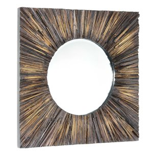 Miroir Joslyn Gild Design House, brun naturel, 30 po x 30 po
