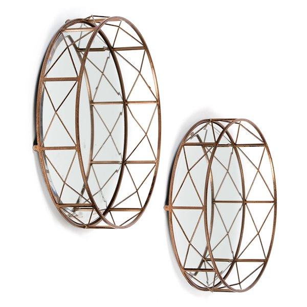 Ensemble de 2 plateaux décoratif muraux Akina Gild Design House