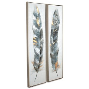 Gild Design House Calamus Wall Art Decor - 60-in x 15-in - Set of 2