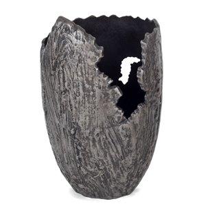 Gild Design House Terra Decorative Vase Large - Grey - 17-in