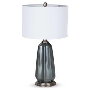 Lampe de table Kashton Gild Design House, blanche et bleue, 28 po