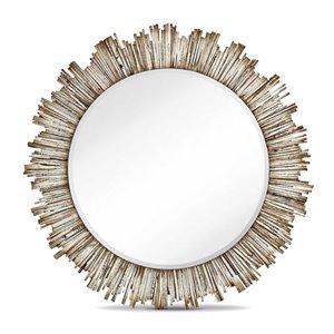 Miroir Diya Gild Design House, blanc, 42 po x 42 po