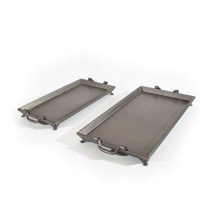 Ensemble de 2 plateaux en métal Gild Design House, gris