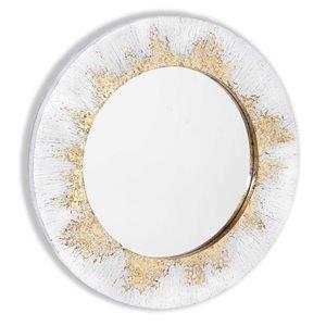 Miroir Nova Gild Design House, blanc, 32 po x 32 po