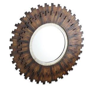 Miroir Emine Gild Design House Mirror, brun naturel, 40 po x 40 po