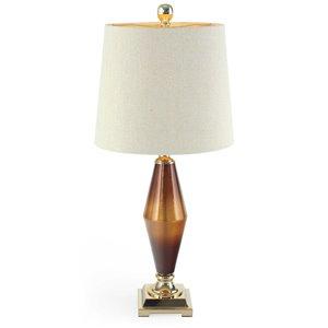 Lampe de table Beckett Gild Design House, or brossé, 33 po