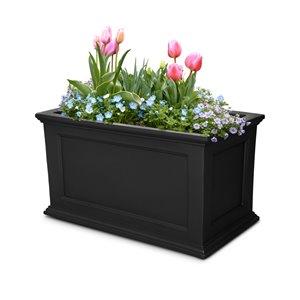 Jardinière rectangulaire Fairfield par Mayne, 20 po x 20 po, noir