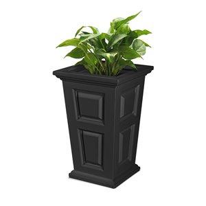 Mayne Wyndham  Planter - 24-in - Black