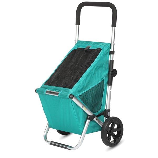 """Chariot de magasinage """"GO FUN"""" de Playmarket, roues surdimensionnées, vert"""