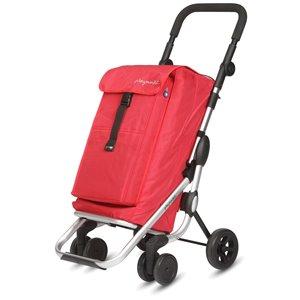 Playmarket Go Up Shopping Trolley - Aluminium Frame - Red