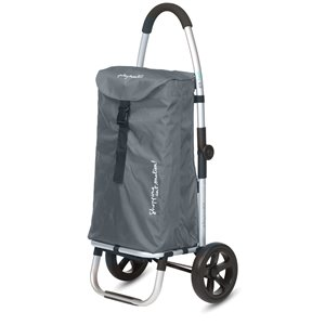 Playmarket Go Two Compact Shopping Trolley-Grey