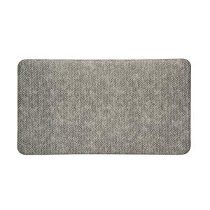 Tapis de série chevron d'Imprint Comfort Mats, gris, 26 po x 72 po x 5/8 po