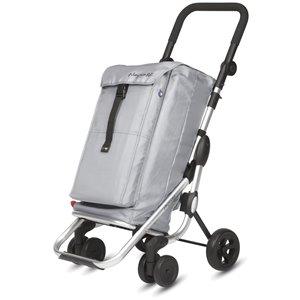 Playmarket Go Up Shopping Trolley - Aluminium Frame - Silver