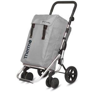 Playmarket Go Plus Shopping Trolley - 4 Wheels - Silver
