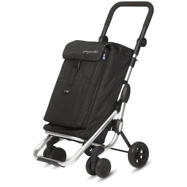 "Chariot de magasinage ""GO UP"" de Playmarket, cadre en aluminium, noir"
