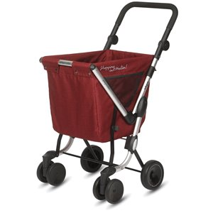 "Chariot de magasinage ""WE GO"" de Playmarket, , 4 roues, lolly pop"