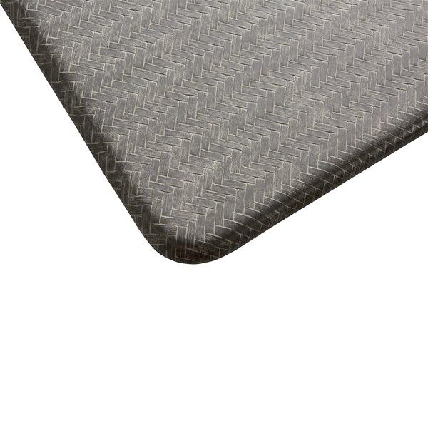 Tapis de série chevron d'Imprint Comfort Mats, gris, 20 po x 36 po x 5/8 po