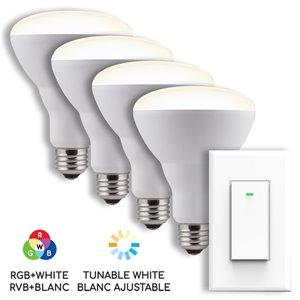 Ensemble d'ampoules DEL intelligents BAZZ avec interrupteur mural Wi-Fi