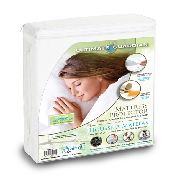 Ultimate Guardian Mattress Protector - King Bed - White