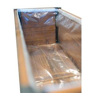 Doublure de remplacement Grapevine en plastique pour jardinière, 35 po x 11,4 po x 10,6 po