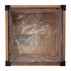 Doublure de remplacement Grapevine en plastique pour jardinière carrée 11972Lu MO, 16,1 po x 16,1 po  x 11,8 po