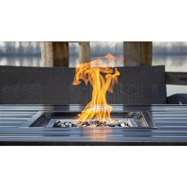 Paramount Noah Square Convertible Aluminum Outdoor Firepit - Bronze - 25,000 BTU