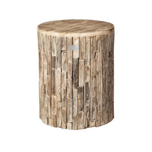 Grapevine Elyse Round Recycled Wood Stool/Plant Stand