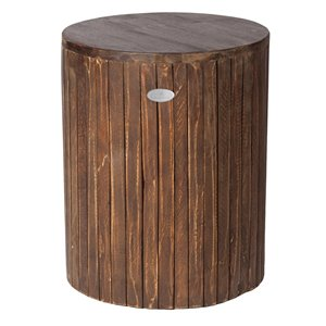 Grapevine Michael Round Recycled Wood Stool/Plant Stand