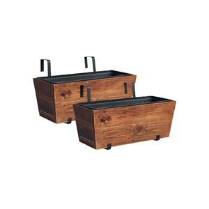 Grapevine Brown Urban Garden Recycled Wood Deck Planter - Brown - 2 Pack