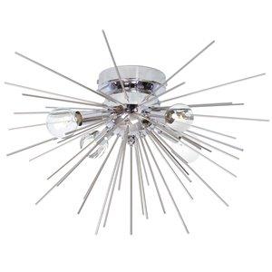 Plafonnier à 4 lumières Vega de Dainolite, 18 po, argent