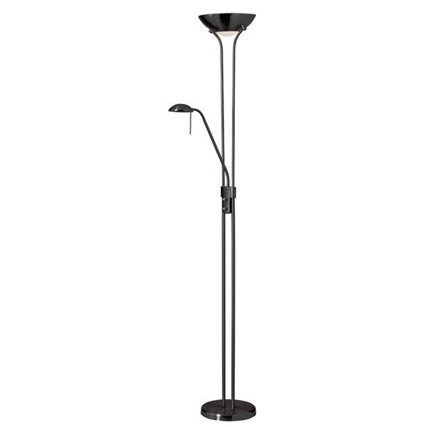 Dainolite Mother & Son Floor Lamp - 3-Light - Matte Black