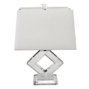 Lampe de table Signature de Dainolite, 1 lumière, 22 po, blanc