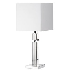 Dainolite Signature Table Lamp - 1-Light - 19-in - Polished Chrome