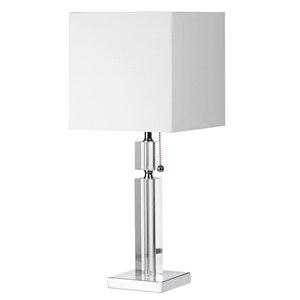 Lampe de table Signature de Dainolite, 1 lumière, 19 po, chrome poli