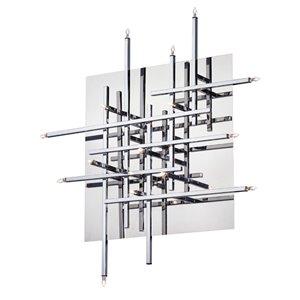 Plafonnier à 16 lumières Mondrian de Dainolite, 24 po, chrome poli