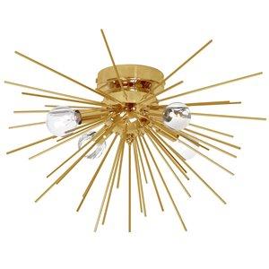 Dainolite Vega Flush Mount Light - 4-Light - 18-in - Gold