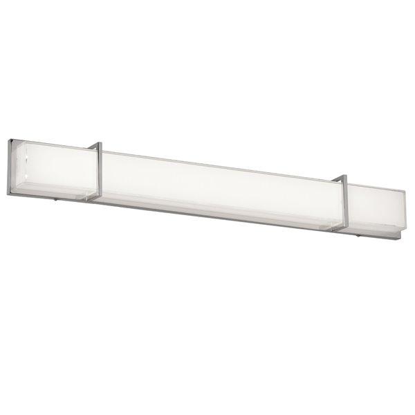 Luminaire pour meuble-lavabo Cased Glass de Dainolite, 2 lumières DEL, 45.6 po, blanc