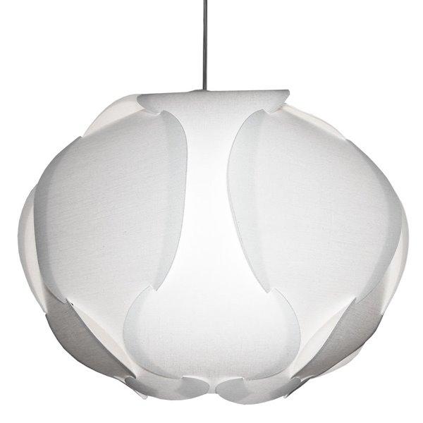 Luminaire suspendu Globus de Dainolite, 3 lumières, 22 po x 15 po, blanc